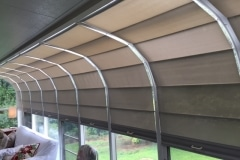 Solarium Wand Shades, Curve Only Side View