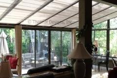 Awning fabric shades, Four Seasons Sunroom