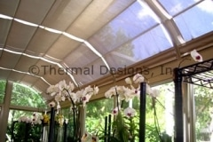 Four Seasons Patio Screen Shades - Handles with Wand operation.