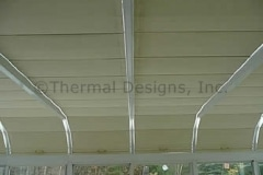 Four Seasons Patio Shades for low pitch rooms - Handles with Wand operation