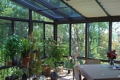 Four Seasons Patio Shades for low pitch rooms - Handles with Wand operation 5