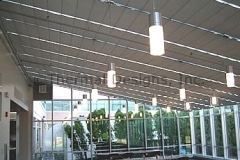 Commercial cafeteria, greenhouse installation using motorization operation...