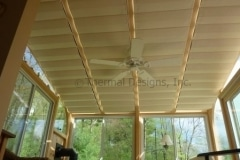 Add-on Track Shades - Bronze track inside mount to glazing beams