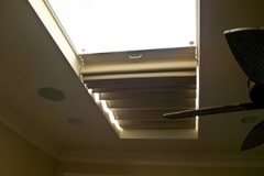Skylight shade in Side-mounted Tracks