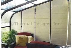 Shades for the solarium gable end windows.