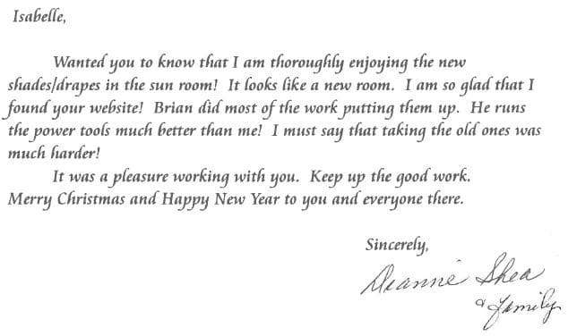 Shea Letter