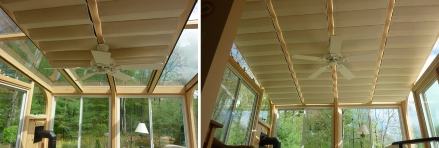Sunroom Add On Track Shades By Thermal Designs Inc