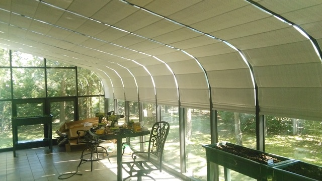 Shades In His Four Seasons Sunroom